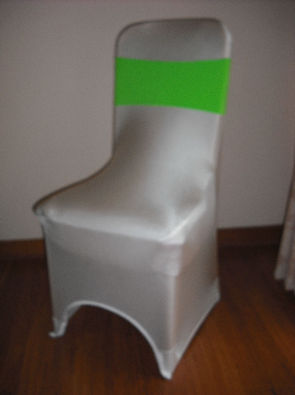 White Lycra cover with Lime Green Band