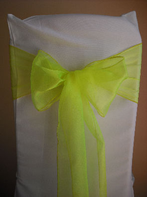 Fluorescent Yellow Organza